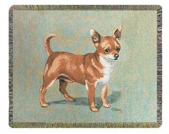 Personalized Chihuahua Dog Throw Blanket