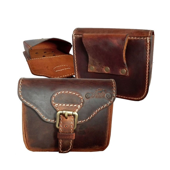 streetrider 174 motorcycle leather belt bag waist pouch