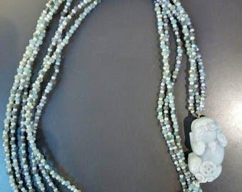 Jade Dragon necklace with crystals