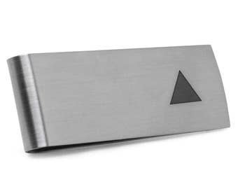 Isosceles Triangle Money Clip | Stainless Steel Money Clip Laser Engraved In The USA.