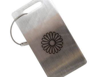 Daisy Stainless Steel Luggage Tag