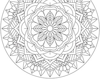 "Printable Coloring Page - Mandala ""Believe"""