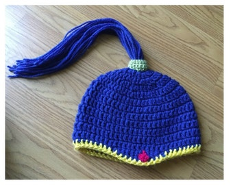 Shimmer and shine crochet beanie