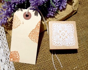 Wooden stamp doily/doily lace