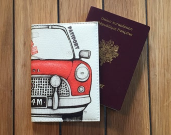 Leather - Citroën 2CV Passport cover
