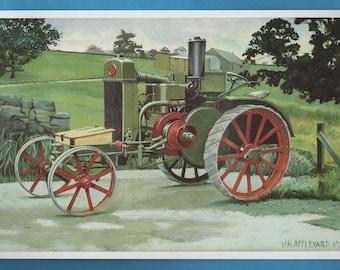 Sanderson Universal G Tractor Print, John Appleyard Artwork Book Plate Print
