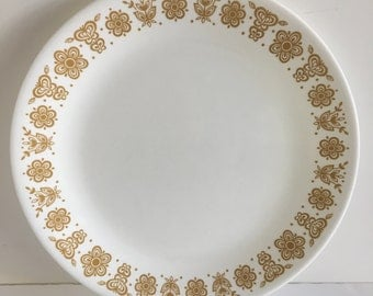 Set of 6 Dinner Plates Corelle -Corning Butterfly Gold 10 1/4""