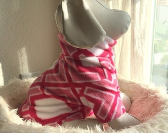Pet Fleece Shirt - Pretty Pink & Patterned