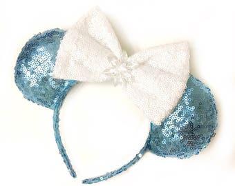 Elsa Frozen Sequin Ears