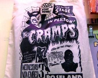 Cramps canvas tote bag stooges punk psychobilly rockabilly garagepunk