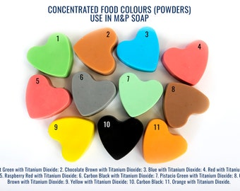 FOOD GRADE !!! 25g Concentrated Colours (POWDERS) - Perfect use in M&P Soap and Bath Bomb Making !!!
