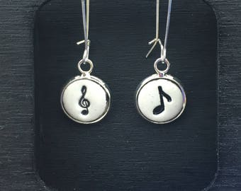 Music Lover Handmade Pottery Earrings