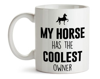 Horse Mug / Cool Horse Owner / Horse Coffee Cup Tea / Equestrian Gifts / Horse Gift / Gift for Horse Lover / Ceramic / Horse Travel Mug