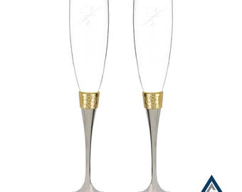 Hammered - Gold Flutes
