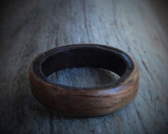Extra Wide Boho Ring - Unisex Ring - Gift for Him - Couples Ring - Gift for Boyfriend - Rustic Wedding Ring - Friendship Ring - Wooden Ring