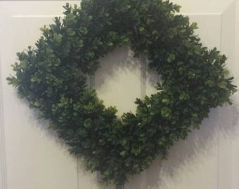 Artificial boxwood wreath/boxwood wreath / front door wreath / door wreath / spring wreath / summer wreath / wreath