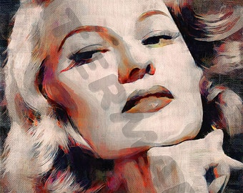 Rita Hayworth Art Print - Oil Painting Poster  LFF0155