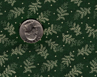 Judie Rothermel OOP Ivory Sprigs on Green Fat Quarter