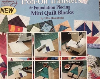 Foundation piecing quilting/iron-on Transfers/Mini Quilt Blocks/easy to learn/paper piecing/