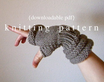 Rome Wristwarmers Knitting Pattern - PDF document digital download - how to instructions - fiber craft diy knit