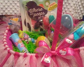 hello kitty themed easter basket