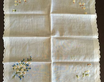 Dainty Embroidered Handkerchief