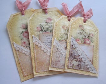 Hand made vintage style tag set 15