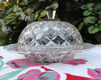 Depression Glass Butter Dish