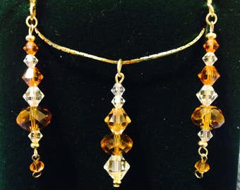 The Sensual Swarovski Crystal Pendant and Earring Set
