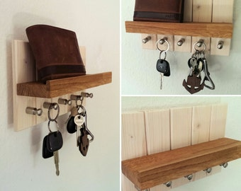 HolzKaspero key board / key rack oak