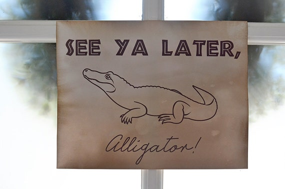 photo relating to See You Later Alligator Poem Printable identify Goodbye Poem Perspective Ya Afterwards Air Media Style and design