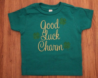 Good luck charm St. Patrick's day glitter shirt