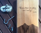 Personalized Hook and Ring Game, Ring Toss Bar Game, John Muir,Bimini Ring Game, Ring Game