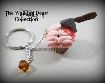 Walking Dead Inspired Brain Cupcake