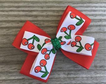 Cherry Bow / Cherry Hair Bow