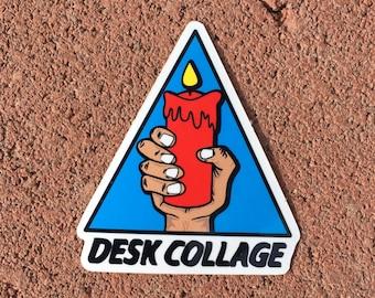 Desk Collage Hand Logo Vinyl Sticker