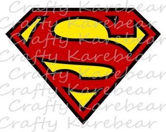 Superman SVG and DXF Digital File Download