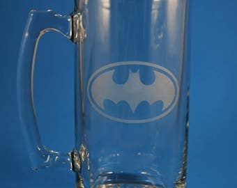Batman Glass Stein - 28 oz.