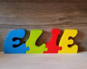 Name wooden Elijah, puzzle, kids room decoration