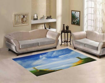 Area Rug 7' x 5' +3 other sizes -The Guarded Coast- FREE Shipping