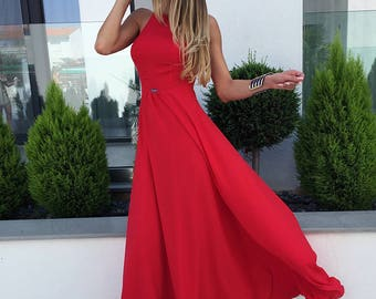Own The Night Red Maxi Dress