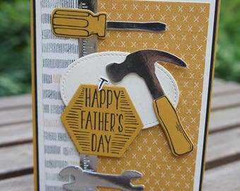 Happy Father's Day Card - You Nailed It Stampin Up Card - Masculine Card - Fix It Man Card