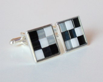 mosaic tile cufflinks - Fathers Day gift