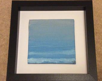 Original painting - Calm sea- Framed