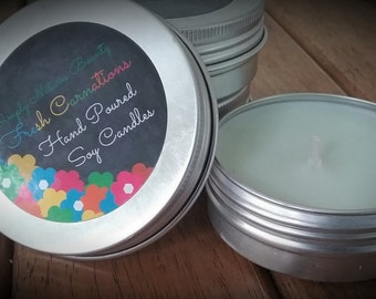 Soy Candle / Candle / Hand Poured / 3.75 Oz