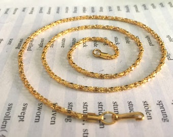 17inch---100pieces 2mm gold 17inch snake bone necklace chains