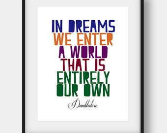 Harry Potter Quote, Albus Dumbledore, Harry Potter, Harry Potter Art, Nursery Decor, Watercolor Harry Potter, Hogwarts Wall Art, Albus Quote