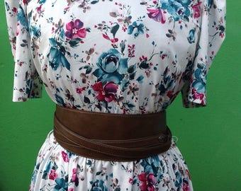 80s vintage Dress   Dress 80s   Vintage dress   Flower print dress   original vintage Dress   Mod dress