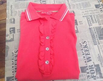 Krizia t-shirt. Vintage t-shirts. Coral t-shirts. Vintage Krizia. Krizia Vintage