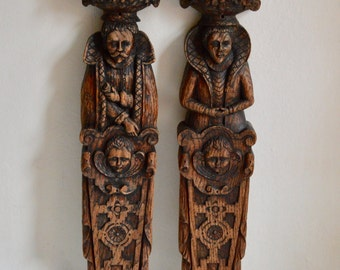 Amazing Couple of Wood Carvings
